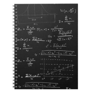 Statistics blackboard spiral notebook