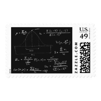 Statistics blackboard stamp