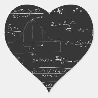 Statistics blackboard heart sticker