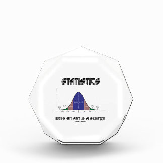 Statistics Both An Art & A Science (Bell Curve) Acrylic Award