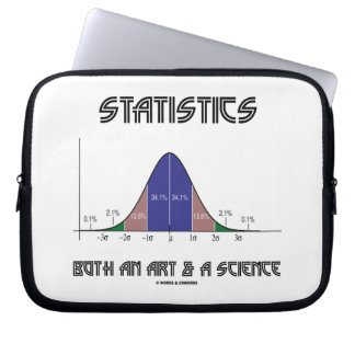 Statistics Both An Art & A Science (Bell Curve) Laptop Sleeve