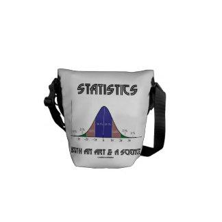 Statistics Both An Art & A Science (Bell Curve) Messenger Bag