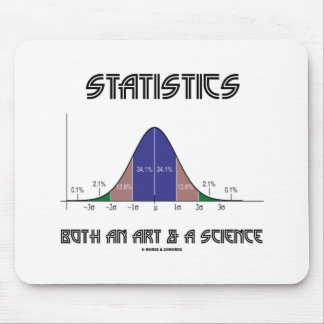 Statistics Both An Art & A Science (Bell Curve) Mouse Pad