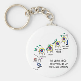 Statistics Cartoon 9225 Keychain
