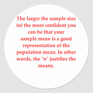 statistics classic round sticker