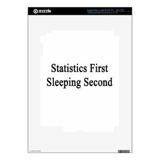 Statistics First Sleeping Second Skins For iPad 3