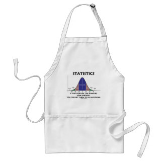 Statistics If You Torture The Numbers Long Enough Adult Apron
