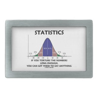Statistics If You Torture The Numbers Long Enough Rectangular Belt Buckle