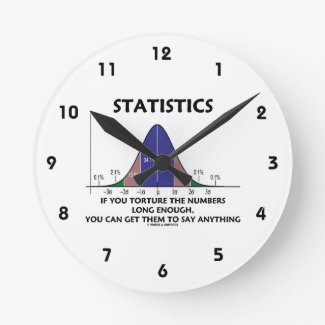 Statistics If You Torture The Numbers Long Enough Round Clocks