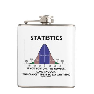 Statistics If You Torture The Numbers Long Enough Hip Flask