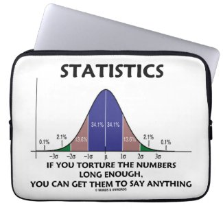 Statistics If You Torture The Numbers Long Enough Computer Sleeves