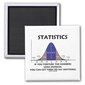Statistics If You Torture The Numbers Long Enough Magnet