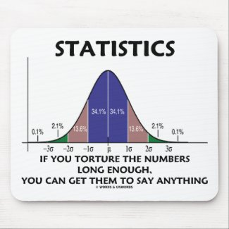 Statistics If You Torture The Numbers Long Enough Mousepads