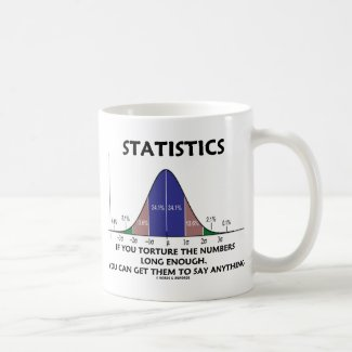 Statistics If You Torture The Numbers Long Enough Coffee Mug