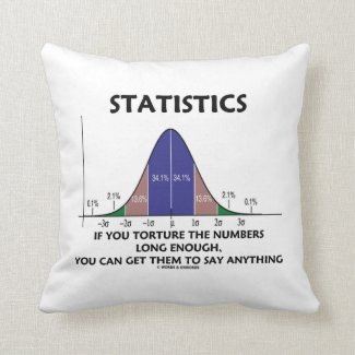 Statistics If You Torture The Numbers Long Enough Pillows
