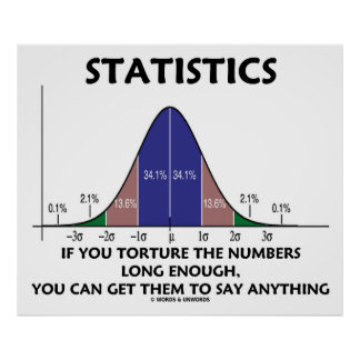 Statistics If You Torture The Numbers Long Enough Poster