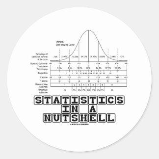 Statistics In A Nutshell (Stats Cheat Sheet) Classic Round Sticker