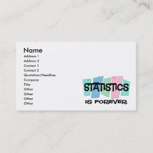 Statistician business cards zazzle statistics is forever business card colourmoves