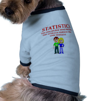statistics joke dog tshirt