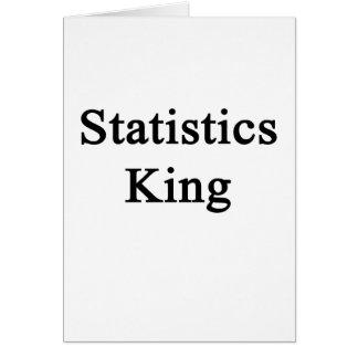 Statistics King Card