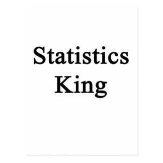 Statistics King Postcard