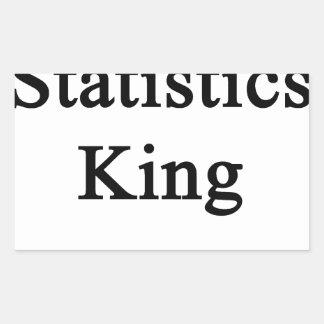 Statistics King Rectangular Sticker