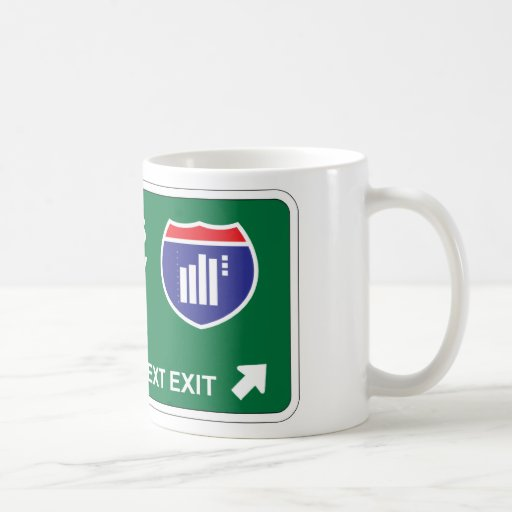 Statistics Next Exit Classic White Coffee Mug