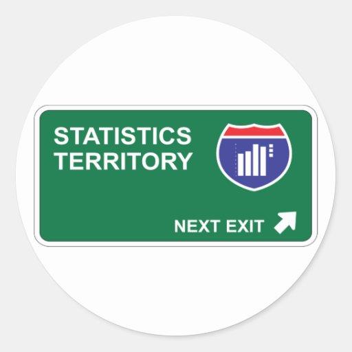Statistics Next Exit Round Sticker