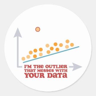 Statistics Outlier Classic Round Sticker