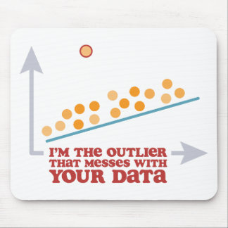 Statistics Outlier Mouse Pad