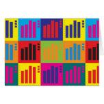 Statistics Pop Art Card