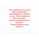 statistics post cards