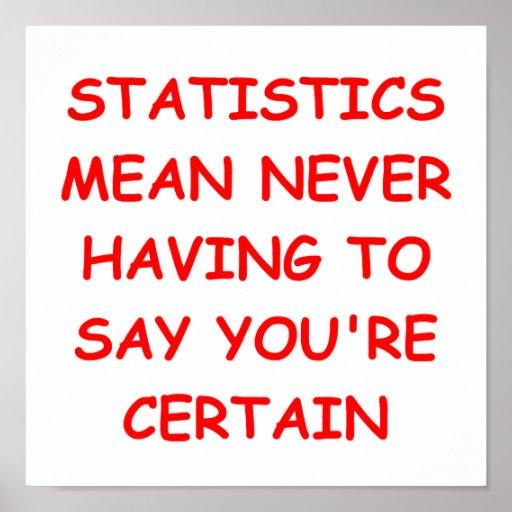 statistics posters