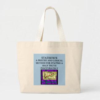 STATISTICS statistician humor Large Tote Bag