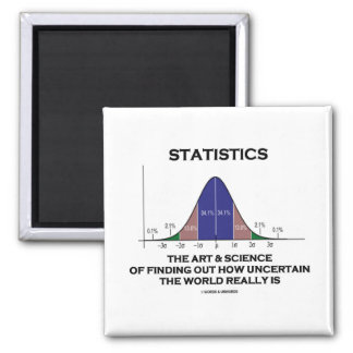 Statistics The Art & Science Of Finding Out Quote Magnet