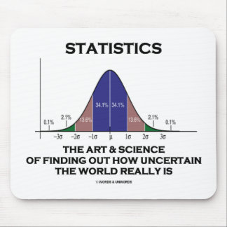 Statistics The Art & Science Of Finding Out Quote Mouse Pad