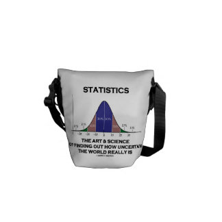 Statistics The Art & Science Of Finding Uncertain Courier Bag