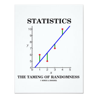 Statistics The Taming Of Randomness (Stats Humor) Card