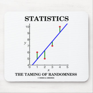 Statistics The Taming Of Randomness (Stats Humor) Mouse Pad