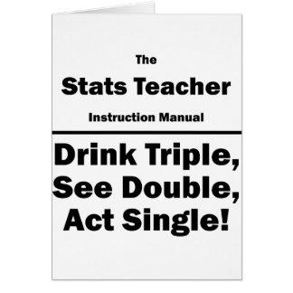 stats teacher card
