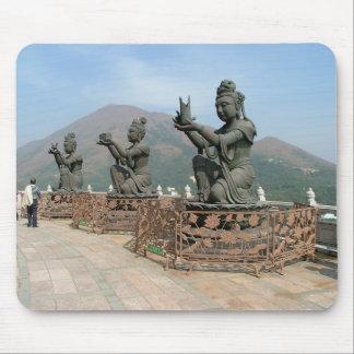 Statuary at Tian Tan Buddha Mouse Pad