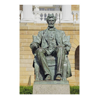 Statue Abraham Lincoln Print