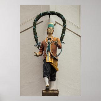 Statue Adorns A Building, Bavaria Poster