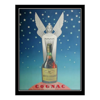 Statue and Art Deco Vintage Poster