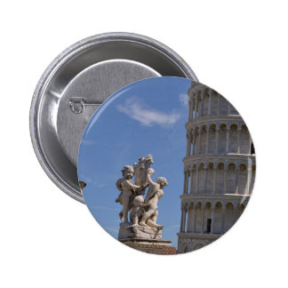 Statue and leaning Tower of Pisa Button