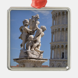 Statue and leaning Tower of Pisa Metal Ornament