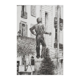 Statue at Cannet 2014 Canvas Print