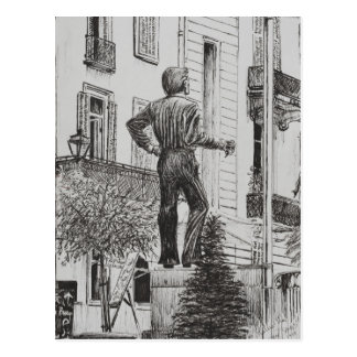 Statue at Cannet 2014 Postcard