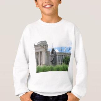 Statue At Oklahoma State Capital Sweatshirt