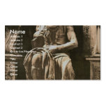 "Statue by Michael Angelo, ""The Seated Moses"", Rome Business Card Template"